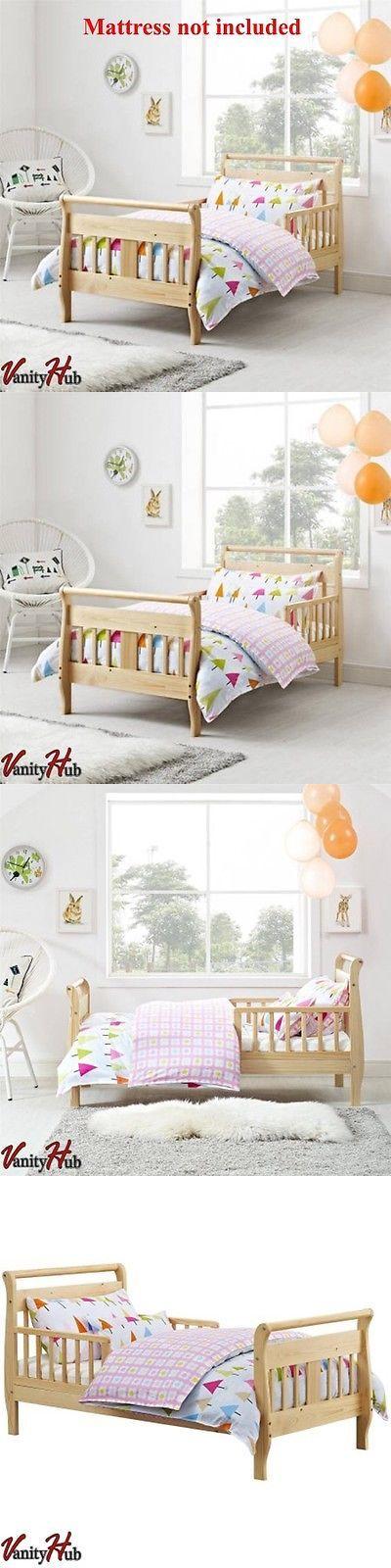 Kids Furniture: Toddler Bed Frame Bedroom Furniture Kids Children Wood Natural New -> BUY IT NOW ONLY: $68.49 on eBay!
