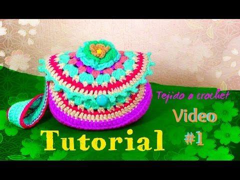 Bolsa  en Granny Circular - Tejida a Crochet!!! - YouTube