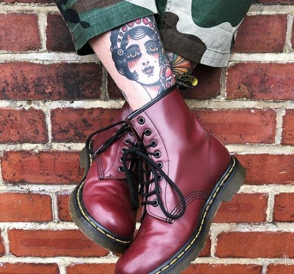 Buty Dr Martens 1460 Smooth Cherry Red Smooth 10072600 Scarpe Dr Martens Sandali