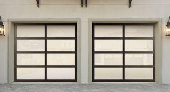 Aluminum garage doors give a home a distinct modern look. | http://www.wayne-dalton.com/residential/Pages/default.aspx