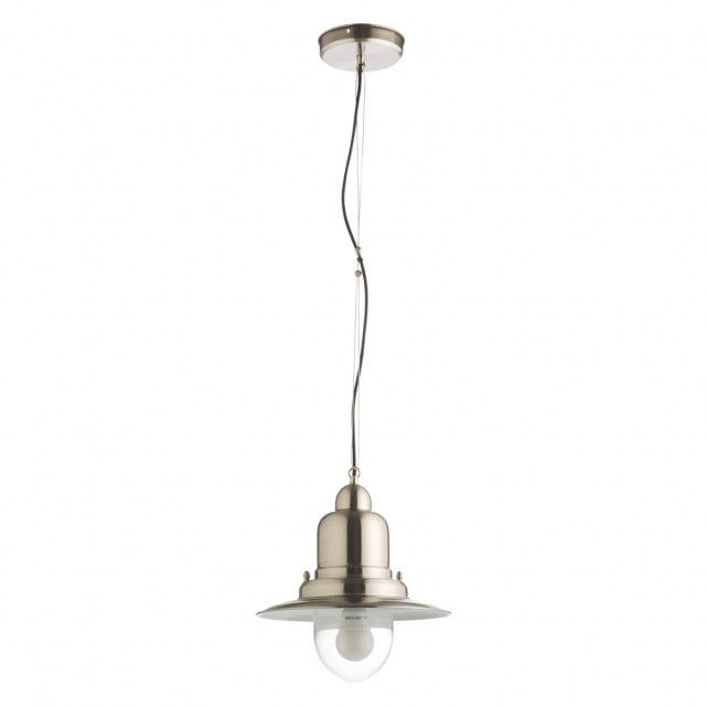 FISHERMAN Silver brushed metal ceiling light