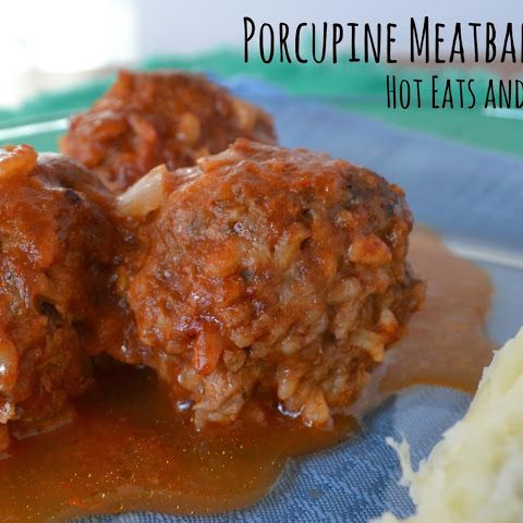 Ground Beef Porcupine Meatballs | Recipes | Pinterest ...