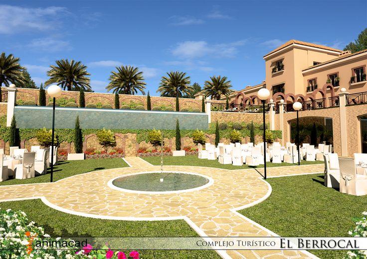 Model 3D Exterior Hotel Benameji