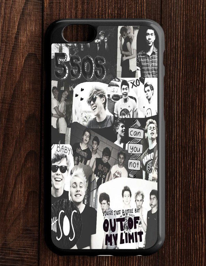 5 Second Of Summer Collage Black And White iPhone 6   6S Case