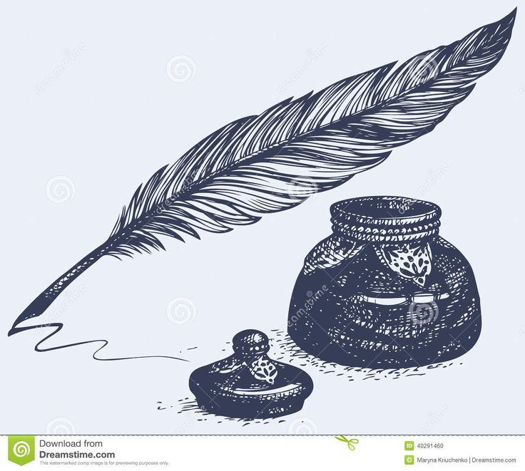 Quill And Inkwell Drawing Best 25+ Quill ...