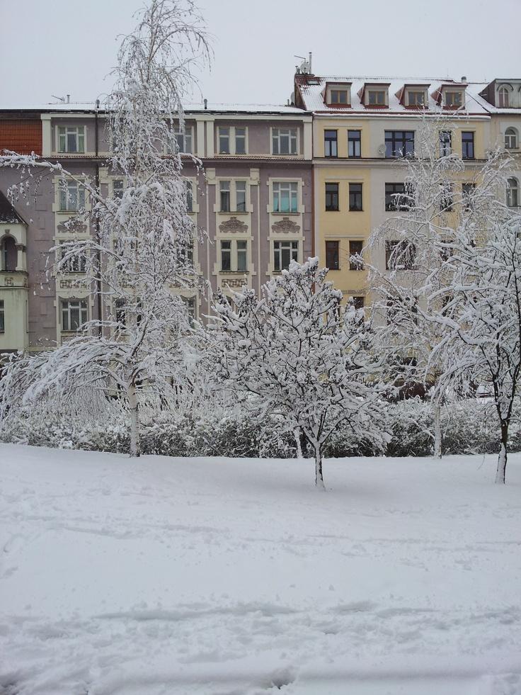Snowy Zizkov (Jeseniova Street)