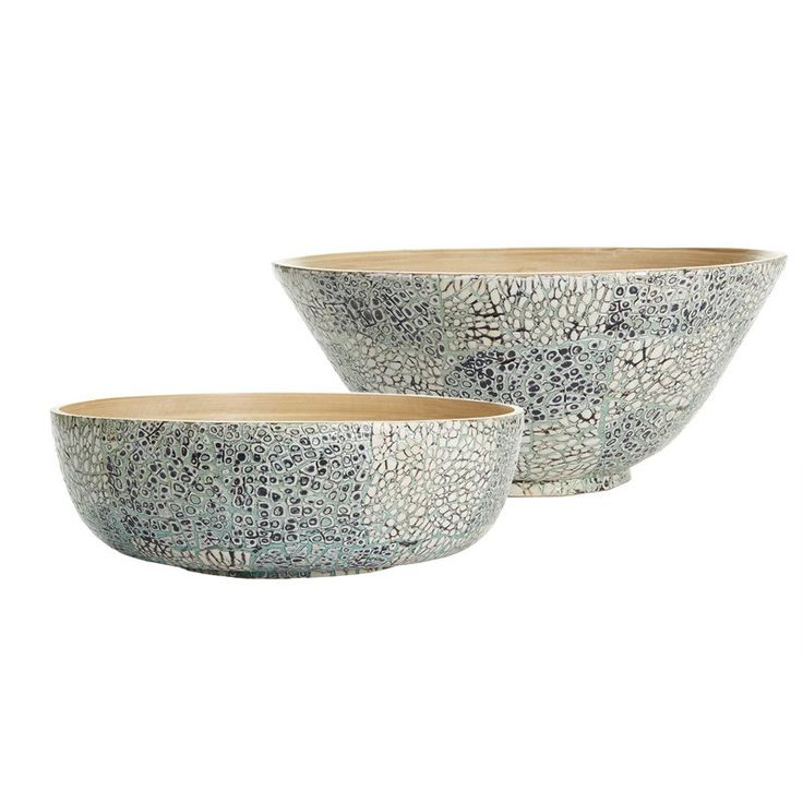 Passport Collection Celadon Egg Shell Serving Bowls - Set of 2 - LAC124-S2