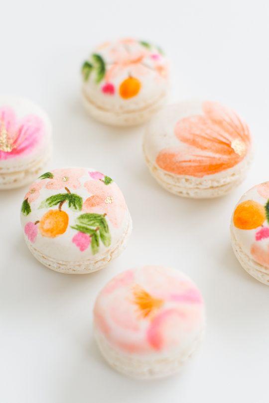 diy floral macarons <3