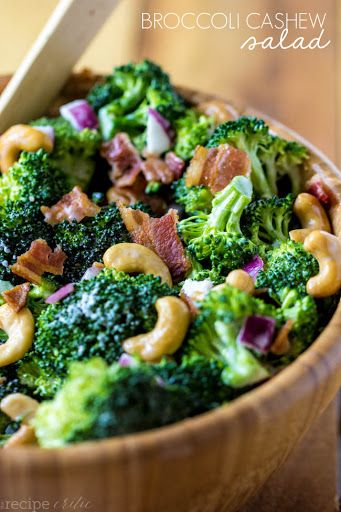 Broccoli Cashew Salad Recipe on Yummly