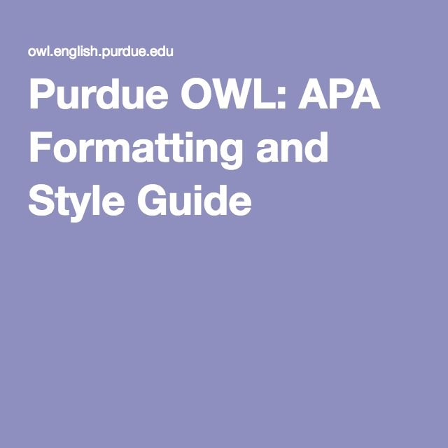 owl guide writing research paper