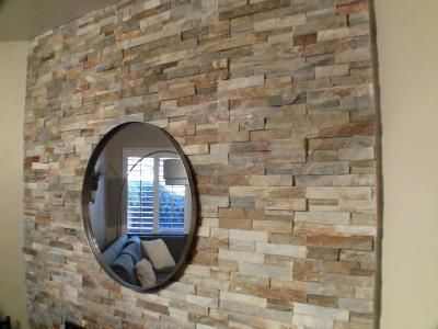6 In X 14 In Desert Quartz Ledgestone Natural Stone Wall