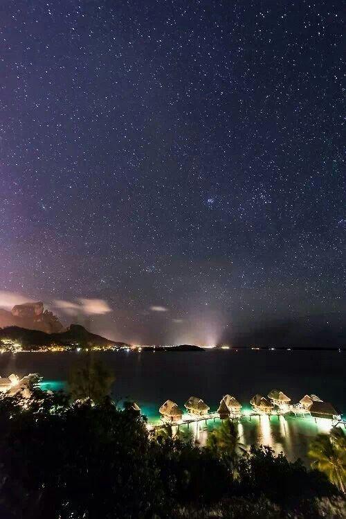 Bora Bora at night