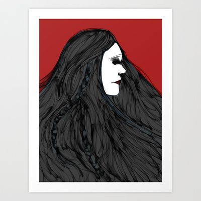 March of The Black Queen Art Print by musicgeekstress - $20.00