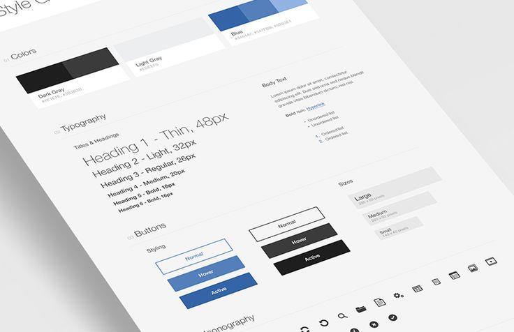 Kostenlose Vorlagen für Benutzeroberflächen- und Markenstile