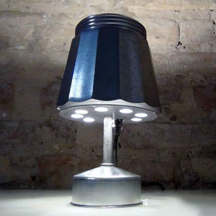 Artesanato Casa e Dicas: Faça você mesmo: luminária retrô a partir de cafet...