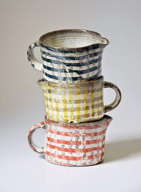 Creamers? Mugs? by Swedish ceramic artist Karin Bengtson. via pink pagoda studio