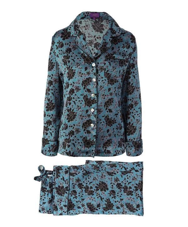 Christelle Long Silk Pyjama Set