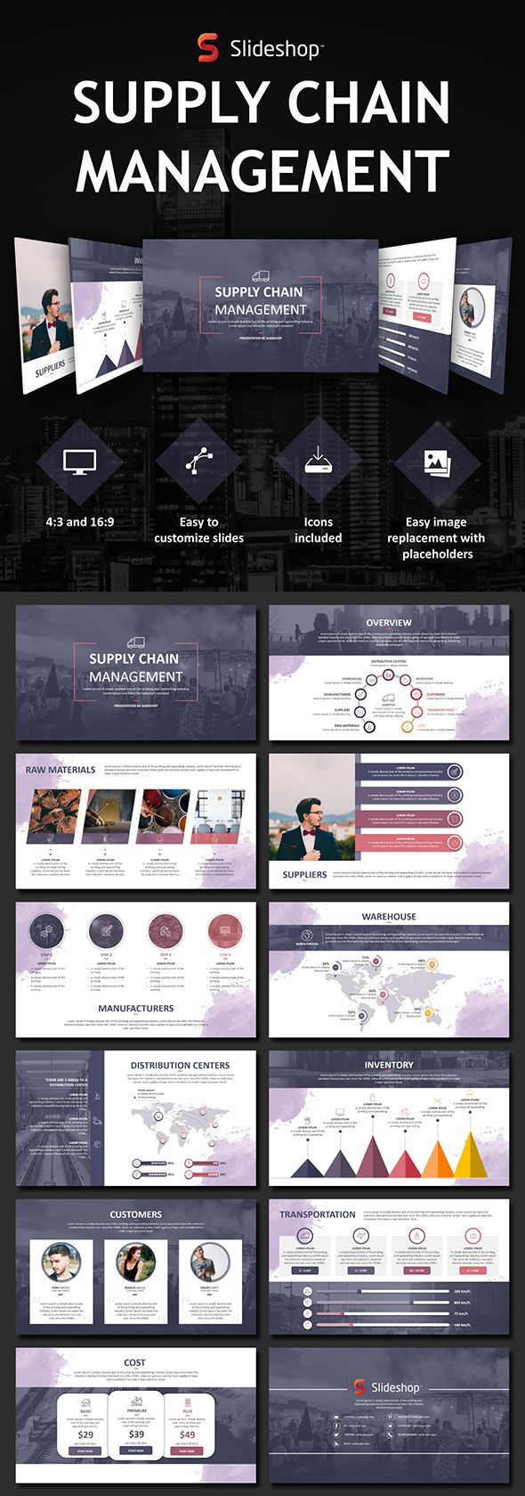 Supply Chain Management - PowerPoint Template