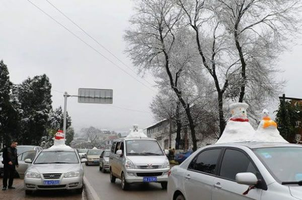 Chinese Go Crazy For Snowmen Car Decorative Accessories 3