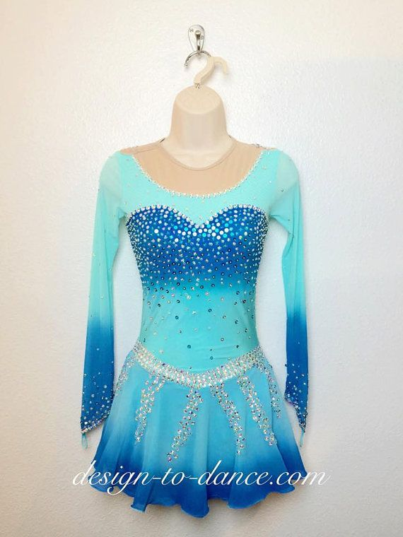 Frozen Elsa 4 Custom Figure Skating Dress/ by DesigntoDance $239.00
