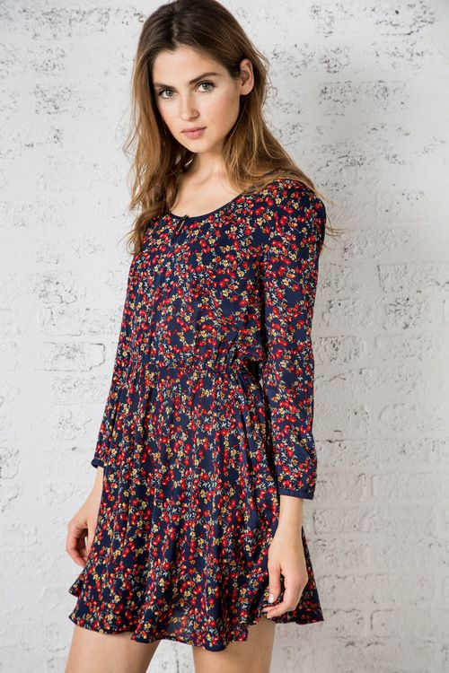 Vestido Fluido De Flores 187 New Collection 187 Woman