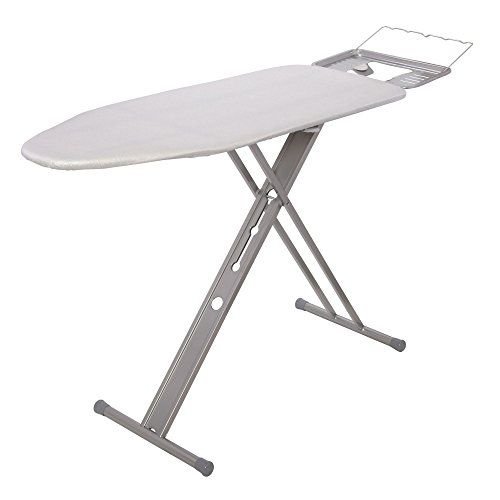 #Household #Essentials Italian Wide Top Board is a contemporary ironing board with a modern, tri-leg design, a wide front leg with circle-cutouts and a sleek silv...