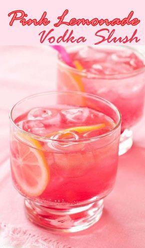 Pink Lemonade Vodka Slush........ lemonade vodka , fresh drink, summer drink, vodka slush, pink lemonade vodka slush,pleasure drink