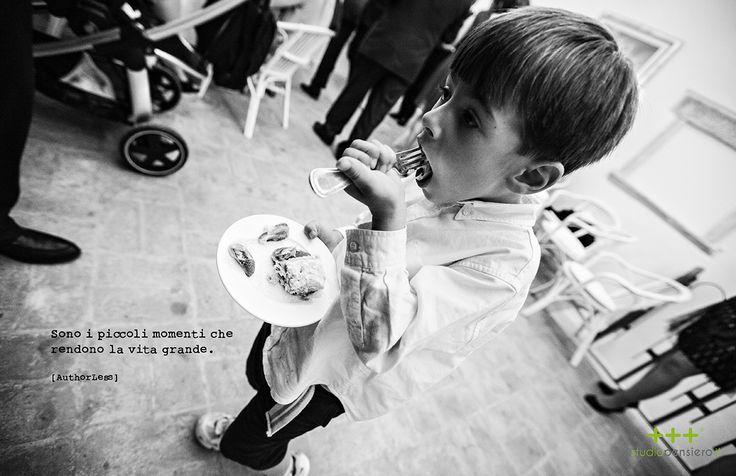 Sono i piccoli momenti che rendono la vita grande.  Small moments make life great.  THINK - FACES  www.studiopensiero.it