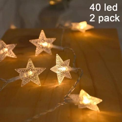 twinkle star 40 led 14 ft star string lights battery operated rh pinterest com