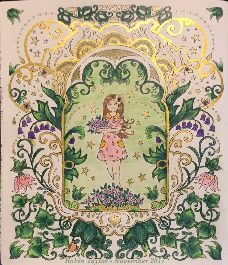 From Ivy And The Inky Butterfly By Johanna Basford Colored With Laurentien Pencils Starry