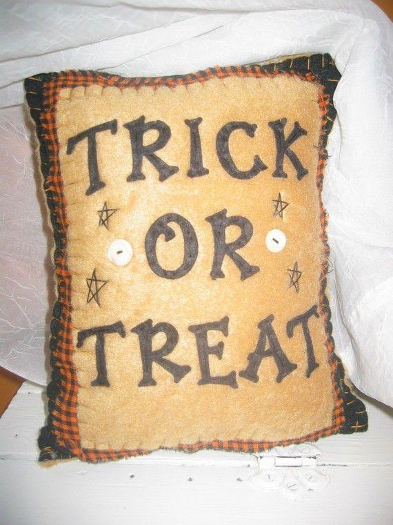 primitive pillow - Halloween Pillows