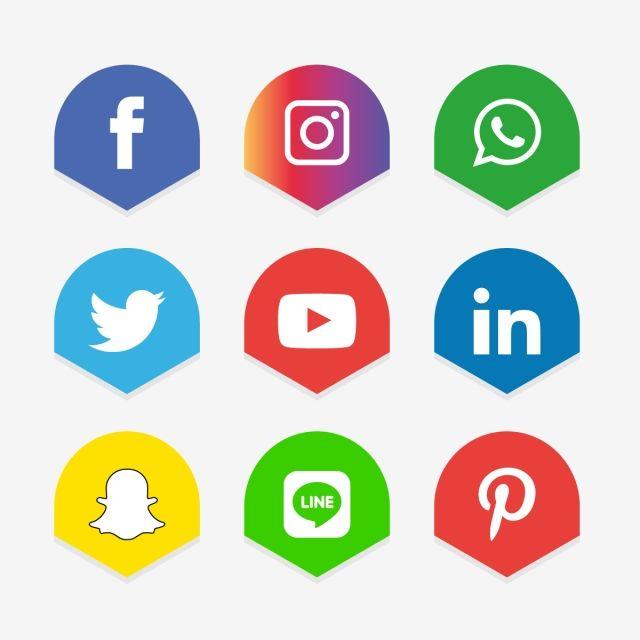 Social Media Icons Set Logo Vector Illustrator Social