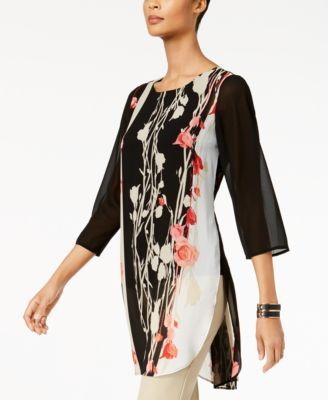 6987f0bdcb1 Printed High-Low Tunic, Created for Macy's   Clothing   Tunic tops ...