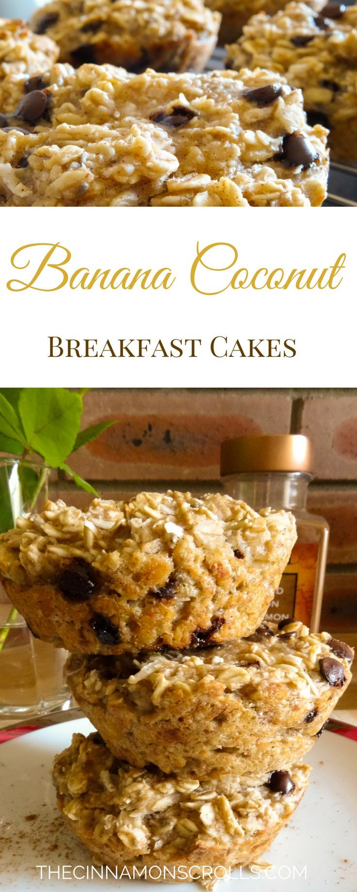 These breakfast cakes are loaded with fibre, protein, and omega-3's from the chia seeds. They're a perfect start to your day, especially if you're making a mad dash for the door... | thecinnamonscrolls.com @cinnamonscribe