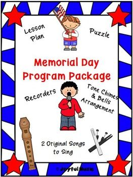 *** SPECIAL PRICE $5.00 *** Contains the following: • Lesson Plan, Objectives, Facts • Original K-2nd Song: Memorial Day (Music and Lyrics) • Original 3rd-5th Song: Memorial Day (Music and Lyrics) o 2-part Recorder Music also included for Refrain o Word Find Puzzle - Memorial Day • Song Sheets for