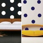 Black And White Polkadots In The Bedrooms