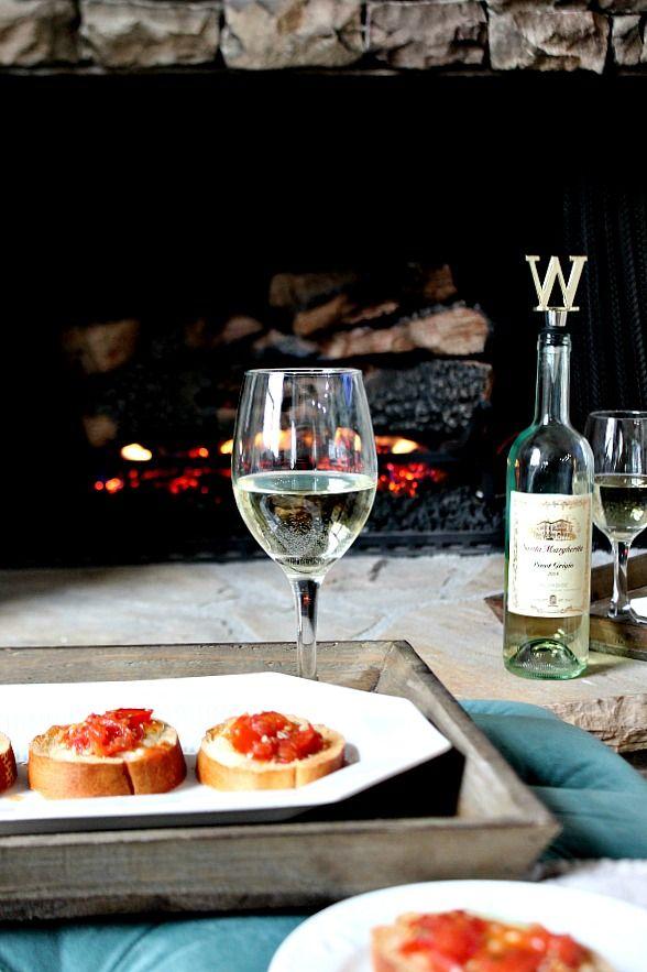 Description: ovie Night - Tomato Mozzarella Appetizer with Santa Margherita Pinot Grigio