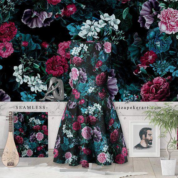 Night Garden VII Seamless Pattern #patten #fashion #wallpaper
