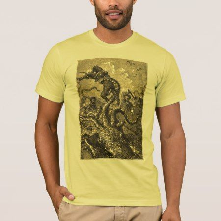 Vintage Giant Squid  Sea Monster T-Shirt - click/tap to personalize and buy