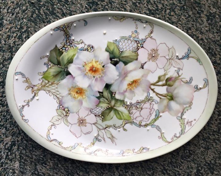 Porcelain tray by Cherryl Meggs, US