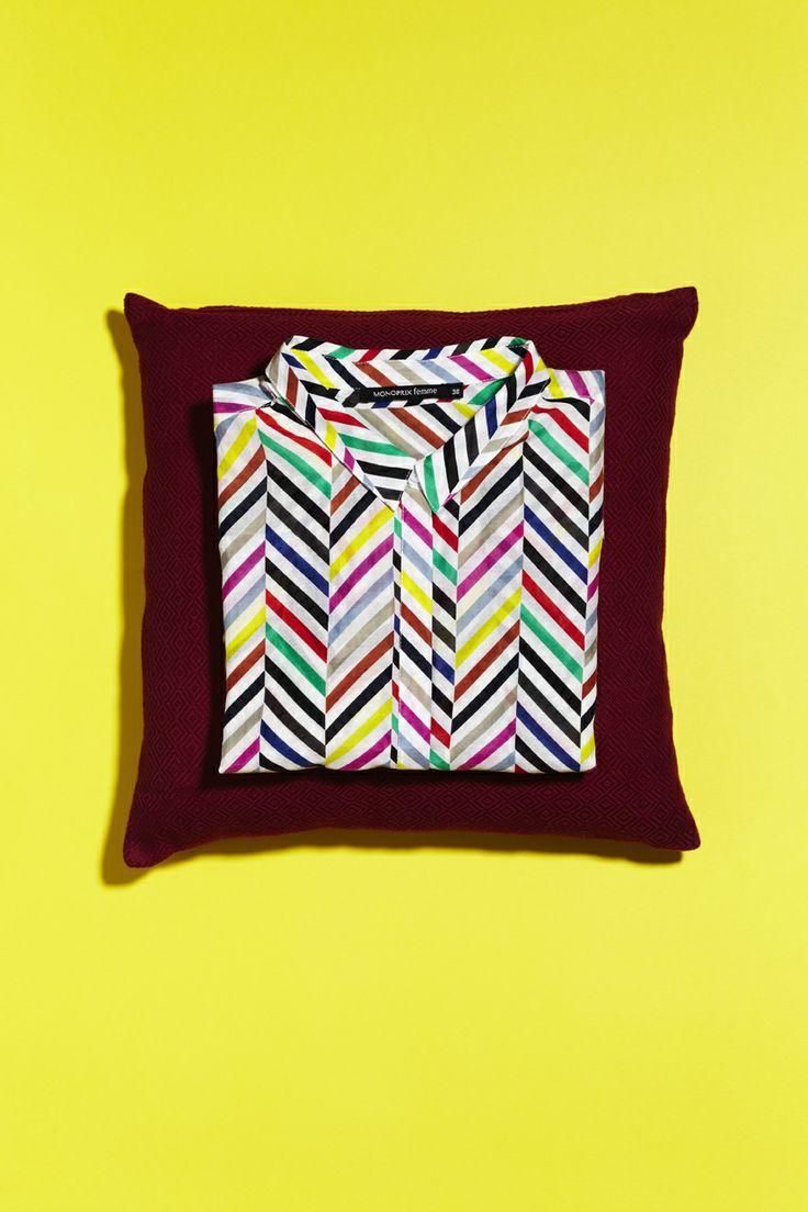 Chemise le cap femme print by minakani pour monoprix patterns pintere - Monoprix collection femme ...