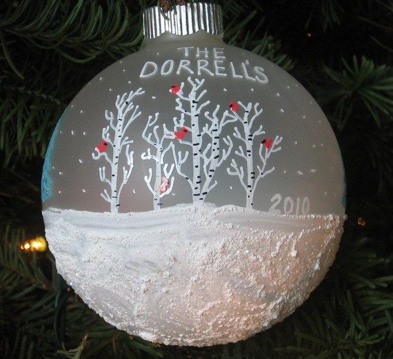Personalized Family Christmas Ornament Snow by Just4Christmas