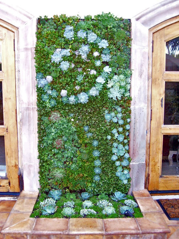 ABC Succulents: Viva Art: Paintings And Vertical Succulent Gardens #green  Wall #vertical