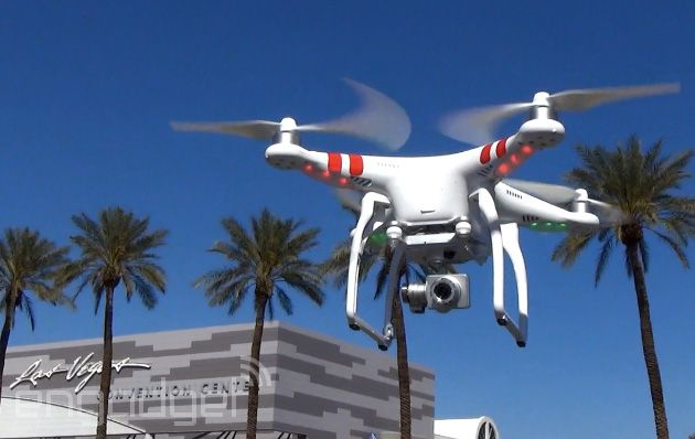 Flying high above Vegas with the DJI Phantom 2 Vision+ drone — these things are really getting a lot easier to fly.