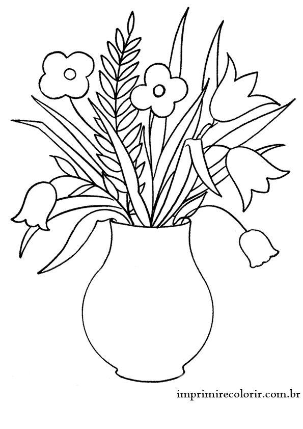 Desenhos De Pintar Imprimir E Colorir Com Imagens Flores Para