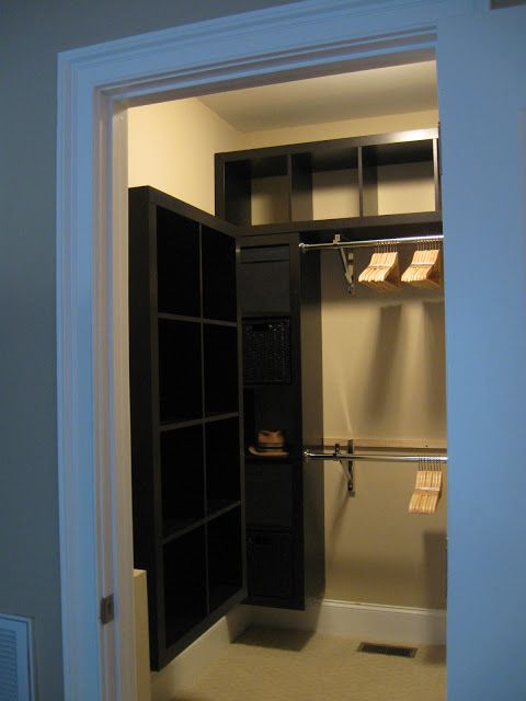 Ikea hackers expedit closet small walk in versatile for Ikea expedit closet