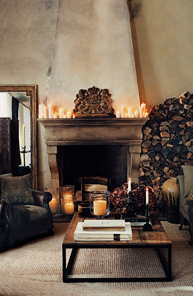 A Cozy Country Retreat From Ralph Lauren Home. Artfully Arranged Firewood  Is At The Ready