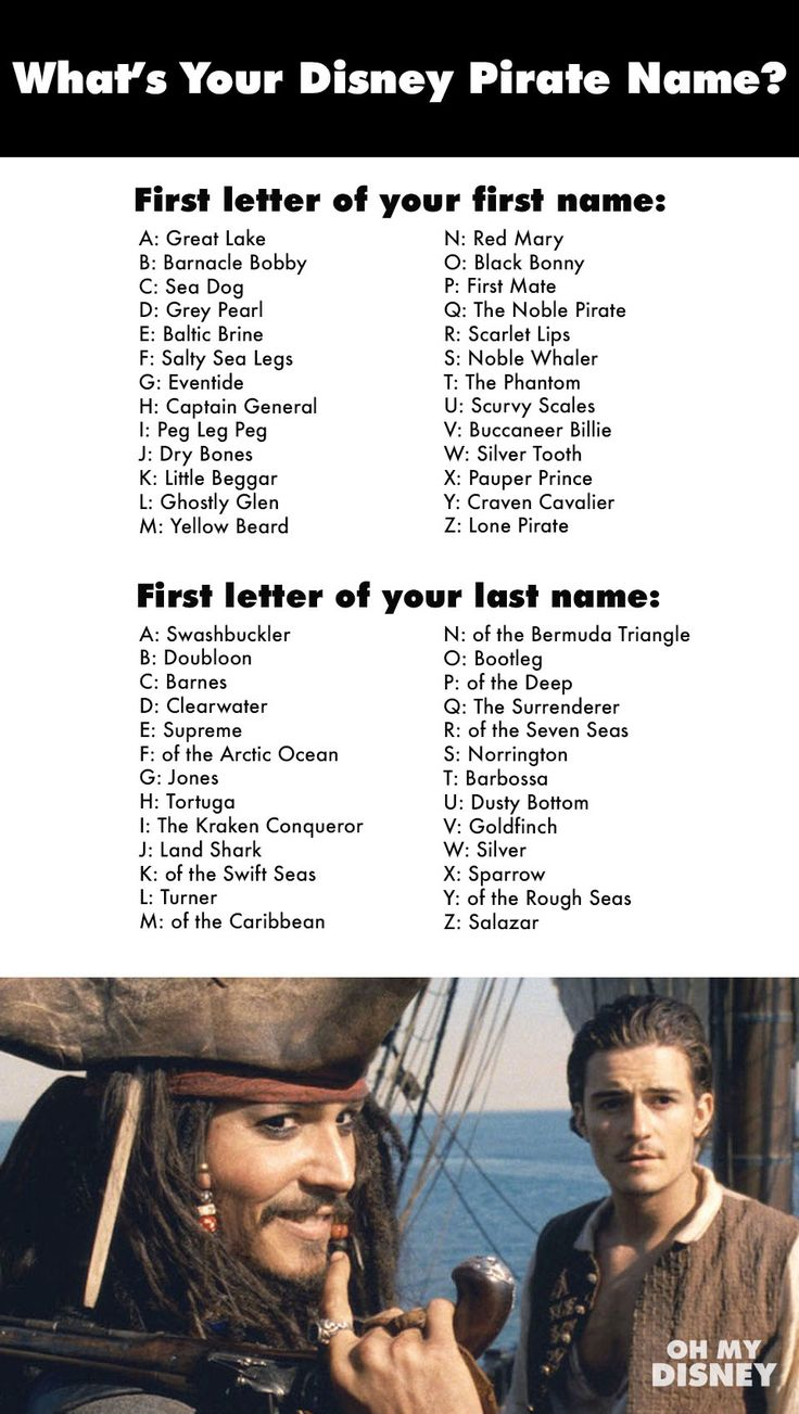 Ahoy! Find your Disney Pirate name here! << My name is Barnacly Bobby of the Arctic Ocean.
