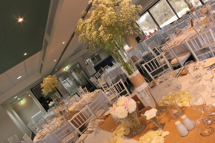 Jenna's gorgeous centrepiece with #Baby'sbreath Kerry Cornes was the florist and did a beautiful job!