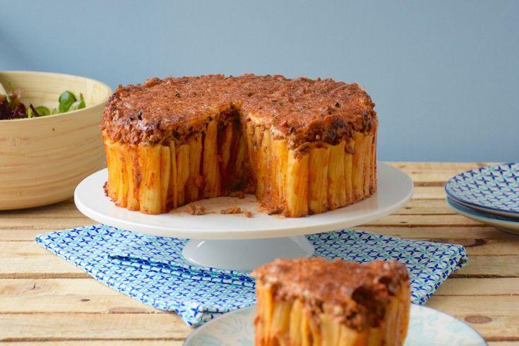 Aussi beau qu'un gâteau - Gâteau de pâtes façon bolognaise